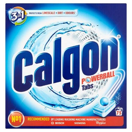 Calgon 3 in 1 Powerball Tabs 75 Pack, Protect from Limescale, Dirt & Odours